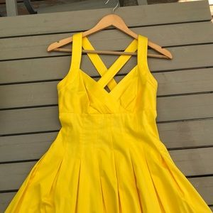yellow calvin klein dress women's size 2